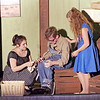 Mark Maynard | for The Herald Bulletin<br /> In a flashback sequence, young Sissy (Gwynith Zimmer) and Mona (Maria Seltzer) comfort Joe (Zach Pruett) as he recounts the brutal assault he has just suffered at the hands of local teenage boys.