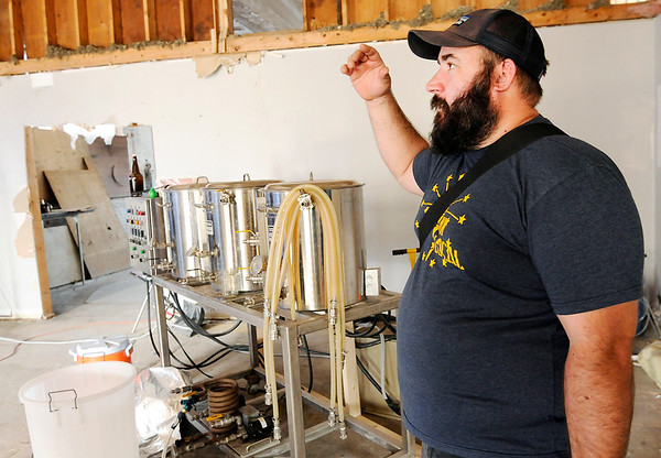 Don Knight   The Herald Bulletin<br /> Dale Van Deraa talks about his plans for the C.T. Doxey taproom in Anderson. C.T. Doxey will be located in the same building as Oakley Brothers in downtown.
