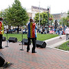 John P. Cleary |  The Herald Bulletin<br /> The Voices perform Friday evening as part of the Summer Concert Series at Dickmann Town Center.