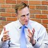 Don Knight | The Herald Bulletin<br /> Anderson University President John Pistole talks about the future of AU.