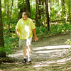 Don Knight | The Herald Bulletin<br /> Andy Persinger walks on Trail 3 at Mounds State Park on Saturday.