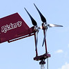 Don Knight | The Herald Bulletin<br /> The Rickers on Dr. Martin Luther King Jr. Boulevard has a wind turbine to power the street signs. Three turbines are being installed at the Purdue Polytechnic Institute on Scatterfield Road.