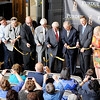 Don Knight | The Herald Bulletin<br /> A ribbon is cut during the dedication of Flagship East/Purdue Polytechnic Anderson on Friday.