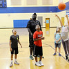 Don Knight | The Herald Bulletin<br /> Students in the after school program at Eastside Elementary get to play basketball after finishing their homework on Thursday. From left are Jordan Height, Jonathan Jackson, Jaelan Jackson, Christine Craig and Mary Kate Short.