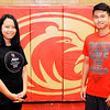 Don Knight | The Herald Bulletin<br /> From left, international students Kate Phan and Thomas Phan are students at Liberty Christian. The school has 15 international students from China, Korea, Spain and Vietnam.