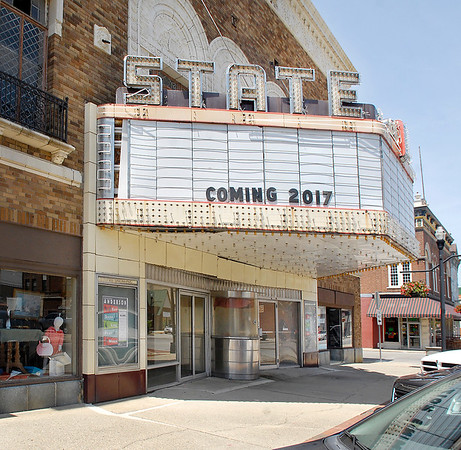 John P. Cleary    The Herald Bulletin<br /> Branden Holder and Brent Doster want to renovate the State Theater and make it an entertainment center.