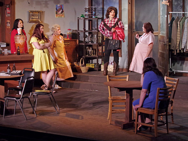 """Mark Maynard   for The Herald Bulletin<br /> Featured in Anderson's Mainstage Theatre's production of """"Come Back to the Five-and-Dime, Jimmy Dean, Jimmy Dean"""" are Rhonda Tinch-Mize (Joanne), Angela Gick (Sissy), Katherine Holtzleiter (Juanita), Sharon Zimmer (Stella Mae), Chelsey Sizemore (Edna Louise) and Erynn Erwin (Mona)."""