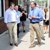 Don Knight | The Herald Bulletin<br /> Christian Center Executive Director Rob Spalding gives Sen. Todd Young a tour of The Christian Center on Tuesday. Sen. Young visited the center as part of his Opportunity Tour.