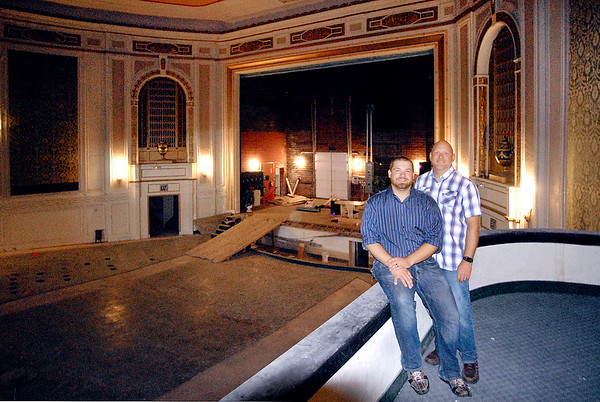 John P. Cleary    The Herald Bulletin<br /> Branden Holder and Brent Doster want to renovate the State Theater and make it an entertainment center. The pair have recently founded Madison County Entertainment and signed a lease-to-own agreement for the theater.
