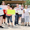 Don Knight | The Herald Bulletin<br /> People protested DCS at Citizen's Plaza Park on Friday. The protesters are calling for DCS to be held accountable for not preventing the deaths of Harlan Haines and Paisley Hudson.