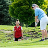 Don Knight | The Herald Bulletin<br /> Anderson's Claire Mountcastle chips onto the second green as Frankton hosted the Indians at Meadowbrook Golf Course on Wednesday.