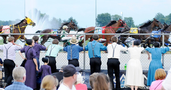 Don Knight | The Herald Bulletin<br /> A large crowd turned out for a night of racing during the 25th running of the Dan Patch at Hoosier Park on Saturday.