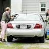 Don Knight | The Herald Bulletin<br /> APD documents the scene as they investigate a fatal shooting in Anderson on Friday.