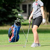 Don Knight | The Herald Bulletin<br /> Alexandria's Rylee Pyle watches her putt on the fourth green at Yule Golf Course as the Tigers hosted Elwood on Wednesday.