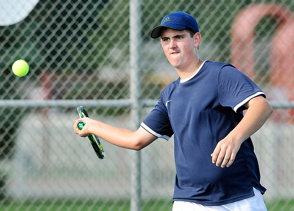 John P. Cleary | The Herald Bulletin<br /> Shenandoah vs Frankton is boys tennis.