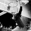 THB FILE PHOTO<br /> Madison Heights basketball coach Phil Buck waves the victory net from the wigwam after winning the Anderson regional in March 1975.