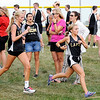 Don Knight | The Herald Bulletin<br /> From left, Lapel's Paige Rich and Noelle Loller run in the 2018 Aaron L Stephenson Memorial Cross Country Invitational at Lapel on Tuesday.