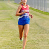 Don Knight | The Herald Bulletin<br /> Elwood's Kaylee Lane nears the finish line during the 2018 Aaron L Stephenson Memorial Cross Country Invitational at Lapel on Tuesday.