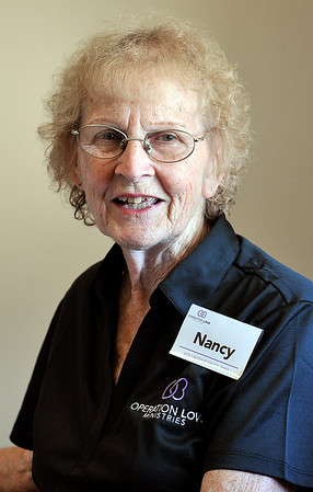 John P. Cleary   The Herald Bulletin<br /> Nancy Jones volunteers as the pharmacy manager for Operation Love. For Hometown Heroes.