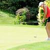 Don Knight | The Herald Bulletin<br /> Anderson's Alexa Nadaline putts on the first green as Frankton hosted Anderson at Meadowbrook Golf Course on Wednesday.