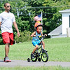 Don Knight | The Herald Bulletin<br /> Jerry Armstrong, 4, rides his bike at Shadyside with his dad Gary on Tuesday.