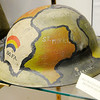 "Don Knight | The Herald Bulletin<br /> A decorated Rainbow Division Helmet is part of the WWI display currently on display at the The Madison County Historical Society. The 42 Infantry Division is made up of National Guard units from many states and  Doulas MacArthur is credited with saying,""The 42nd Division stretches like a rainbow from one end of America to the other."""