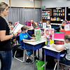 John P. Cleary | The Herald Bulletin<br /> Daleville Elementary School second grade teacher Jensen Hochstetler gives her students a spelling test during the first week of classes. Hochstetler worked as an instructional assistant in the school library last year.