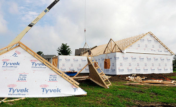 John P. Cleary | The Herald Bulletin<br /> New home construction in the Apple Downs addition.