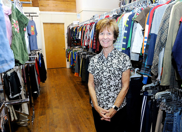 Don Knight   The Herald Bulletin<br /> Pam Jones spent most of her career as an administrator for several nonprofits, and in retirement now volunteers at Outfitters in Pendleton.