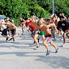 Don Knight | The Herald Bulletin<br /> Runners take off during the Anderson Road Runners Club weekly Thursday night race at Shadyside. Walkers start at 5:30 p.m. and runners at 6 from the activity center. The Club is starting a new group run next week on Tuesday at 9 a.m. at Falls Park in Pendleton.