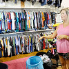 Don Knight | The Herald Bulletin<br /> Niki Brown talks about what children receive when the come to Outfitters in Pendleton. She said Outfitters provides each school age child with five pairs of pants, seven pairs of underwear, tops, winter apparel, pajamas, belts, hats and a new pair of shoes.