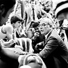 THB FILE PHOTO<br /> Madison Heights basketball coach Phil Buck talks to his team during a timeout against  Anderson at wigwam Jan 16, 1981.