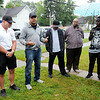 Don Knight | The Herald Bulletin<br /> Darnell Williams, pastor of New Purpose Ministries of Anderson, speaks before a Peace Walk in remembrance of Jeremy Boyd on Saturday. Anderson Police Chief Tony Watters came out in support of the group calling for an end to violence.