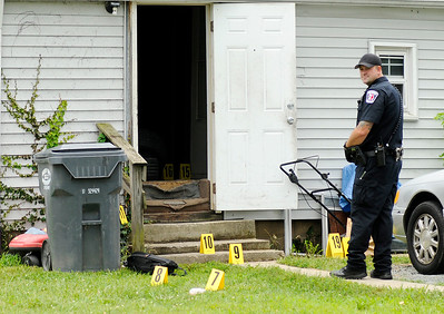 Don Knight | The Herald Bulletin AFD secures and investigates the scene of a fatal shooting in Anderson on Friday. Madison County Coroner Marian Dunnichay has identified the victim as Jeremy D. Boyd, 35, of Anderson.