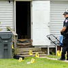 Don Knight | The Herald Bulletin<br /> AFD secures and investigates the scene of a fatal shooting in Anderson on Friday. Madison County Coroner Marian Dunnichay has identified the victim as Jeremy D. Boyd, 35, of Anderson.