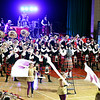 "John P. Cleary | The Herald Bulletin<br /> State Fair Band Day champions, the Anderson Marching Highlanders perform their show ""Sir Elton"" during a school pep session Monday to honor them."