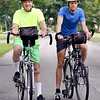 John P. Cleary | The Herald Bulletin<br /> After making their annual trip to raise money for Youth Serving Christ, 72-year-old Garri George and his 36-year-old son, Garri Jr., have now ridden 14,000 miles together.