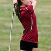 John P. Cleary | The Herald Bulletin<br /> Alexandria's Chloe Cuneo follows her tee shot on #4 at Yule Golf Club during their match with Wes-Del and Frankton Monday.