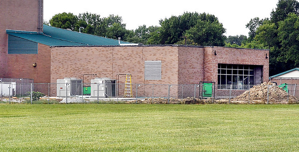 John P. Cleary   The Herald Bulletin<br /> An exterior view of the addition to the cafeteria at Tenth Street Elementary School.