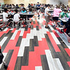 John P. Cleary | The Herald Bulletin<br /> One of the improvements to the present cafeteria at Tenth Street Elementary School is this bright new flooring using the school colors.