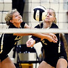 John P. Cleary | The Herald Bulletin<br /> Lapel's Emma Anderson and Makenna Bauer cross paths as they both go after the ball.