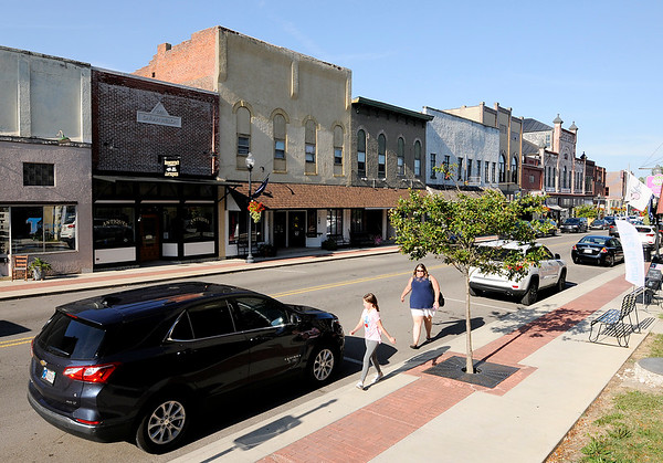 Don Knight | The Herald Bulletin<br /> State Street in Pendleton is lined with restaurants and businesses.