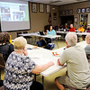 Don Knight | The Herald Bulletin<br /> Advanced Indiana Master Naturalist Mary Powell shares her ideas for reducing plastic waste during the monthly meeting of the Friends of Mounds State Park on Thursday.