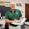 Don Knight | The Herald Bulletin<br /> Pendleton teacher Dave Cloud is teaching economics as part of American history.