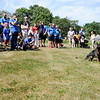 Don Knight | The Herald Bulletin<br /> APD officer Matt Jarrett gives a K-9 presentation with his partner Haris during  Freedom Martial Arts annual Freedom Fest on Saturday.