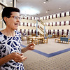 John P. Cleary | The Herald Bulletin<br /> Sarah Later, director of the Anderson Public Library, says they are planning a $2.5 million remodeling of the ground floor of the facility. The improvements will include new carpeting and paint in all the public spaces on the main floor and in the book stacks, LED lighting, and upgrading the public restrooms.