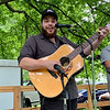 Eric Reel performs with his band, the Boozehounds, during the White River Folk & Bluegrass Club's Bluegrass Festival Saturday at Shadyside Park.