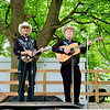 The Blue Holler Band from Knox, Indiana, performs at the White River Folk & Bluegrass Club's Bluegrass Festival Saturday at Shadyside Park. Band members are, from left, Sherry McKinley, Tim Cunningham, Stanley Sallee and Doug Tyler.