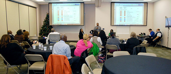 Members of the Anderson chapter of Indiana Black Expo held a press conference on the State of the Black Youth Report Tuesday at the Madison County Community Health Center.