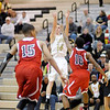 Lapel's Mitchell Richardson shoots from three-point range as the Bulldogs hosted Park Tudor on Thursday.